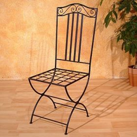 square iron chair