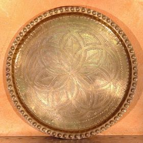 Old Brass Tea Tray